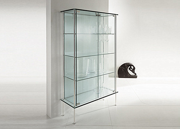 Sleek glass cabinet