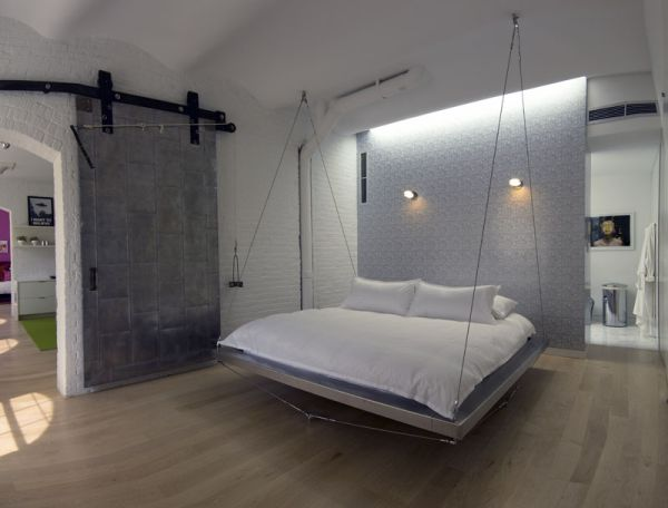 Sleek modern hanging bed perfect for the contemporary home