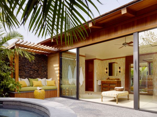 Glass Patio Design Sliding Glass Doors Open Up Leading Into A Stunning And Soothing Patio