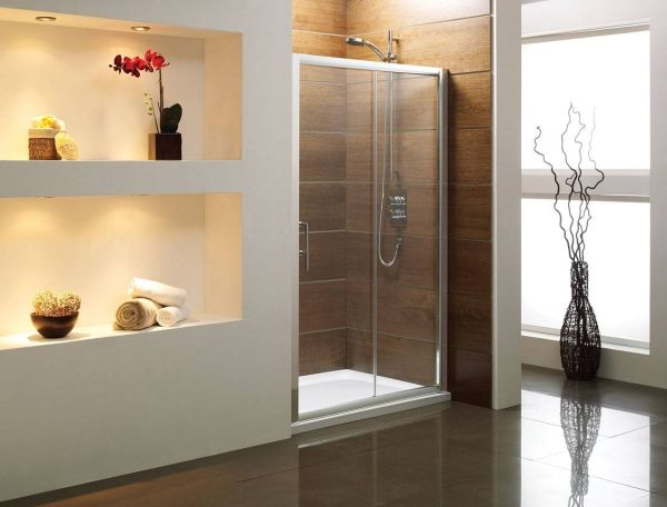 Sliding shower door enclosures for a sophisticated modern look