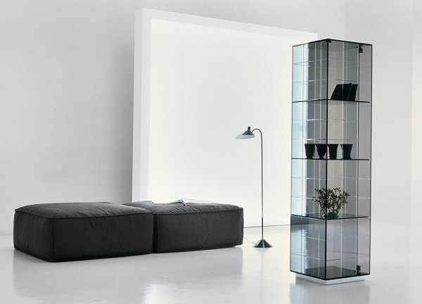 Smoked glass cabinet