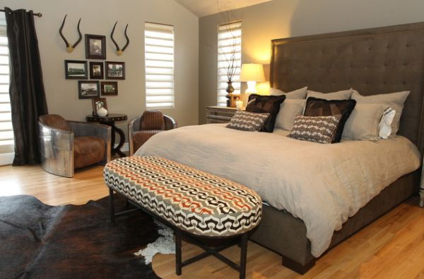 view in gallery snazzy bench at the foot of the bed steals the show here - Show Bedroom Designs