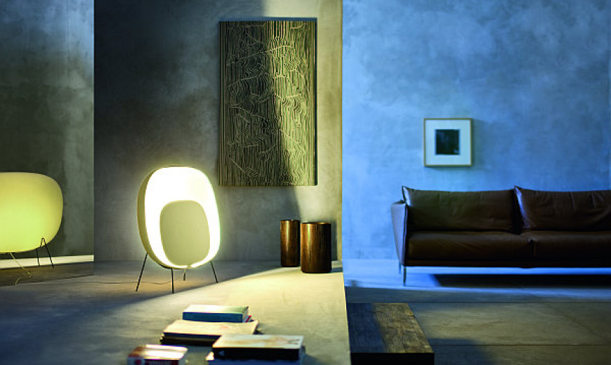 Animation of Light! Stewie Floor Lamp by Luca Nichetto for Foscarini