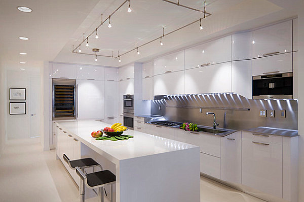 Wonderful View In Gallery Striped Under Cabinet Lighting In The Kitchen