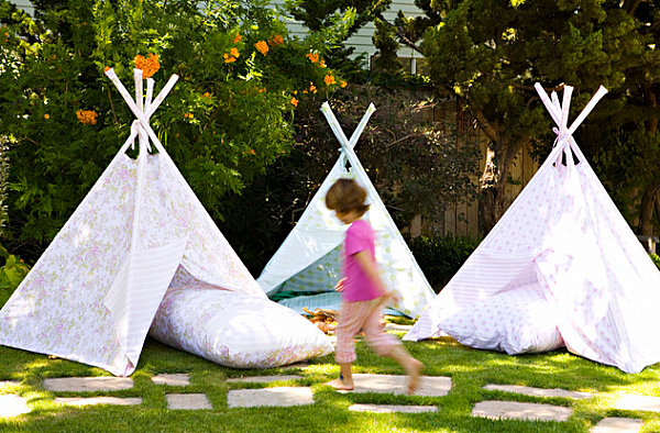 Teepee tents for a child's birthday party