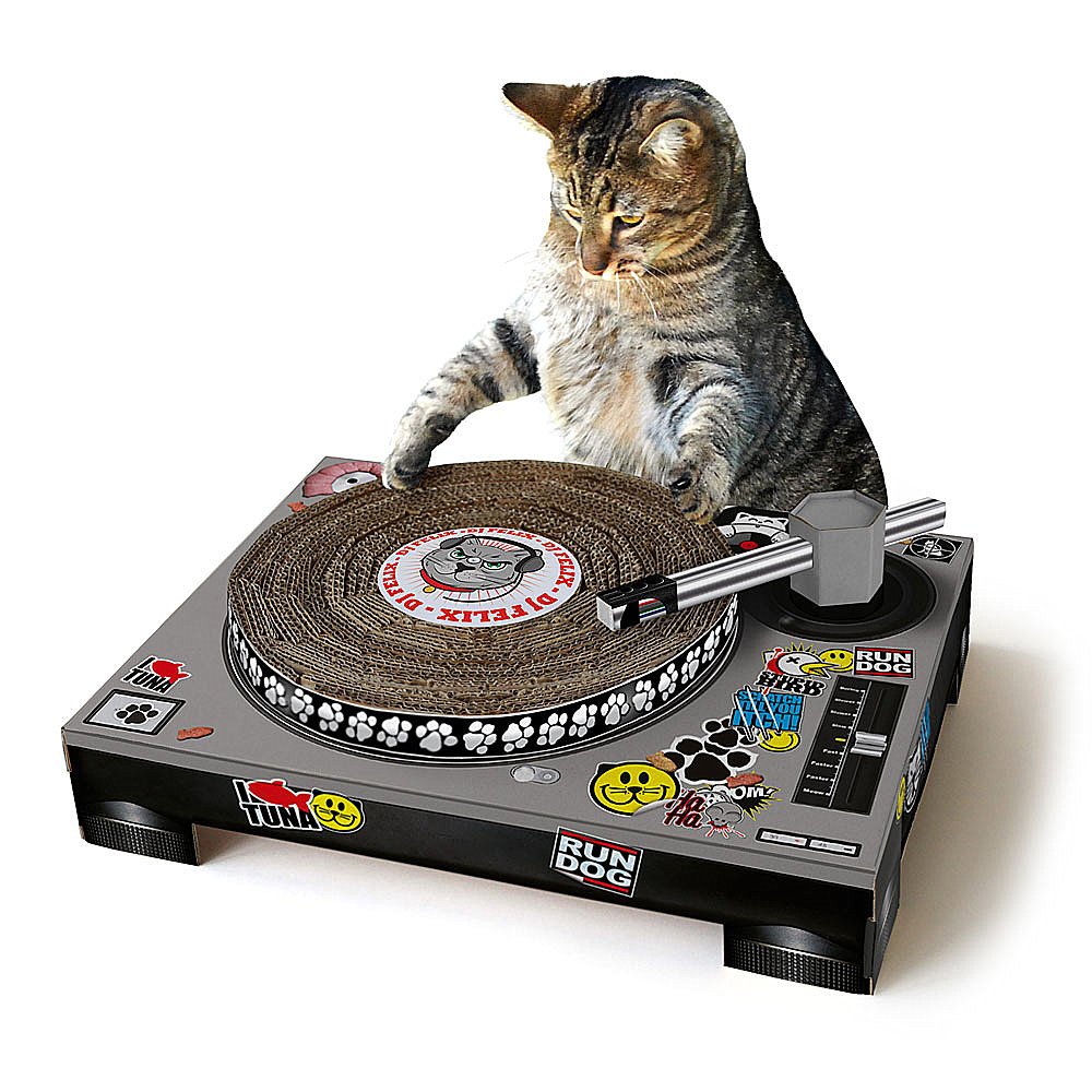 Turntable cat scratching pad
