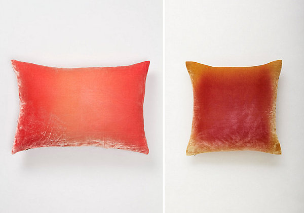 Velvet ombre pillows for spring