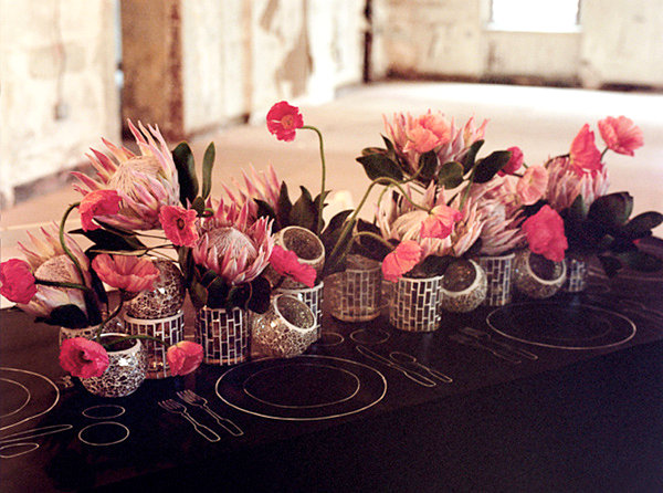 Votvies and flowers make a DIY centerpiece