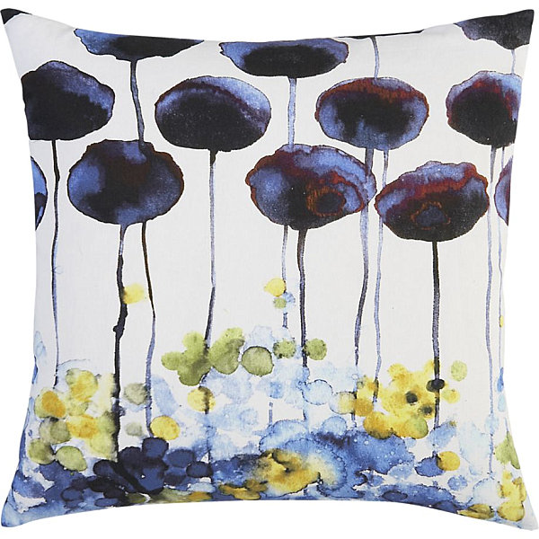 Watercolor-style spring pillow