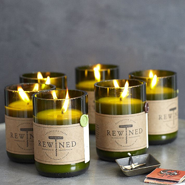 Wine-scented candles