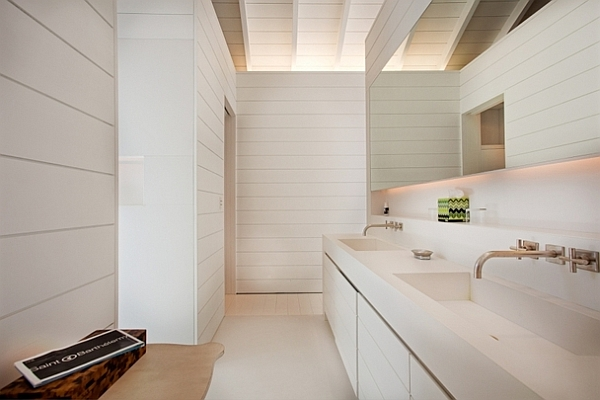 all white beach villa - bathroom design