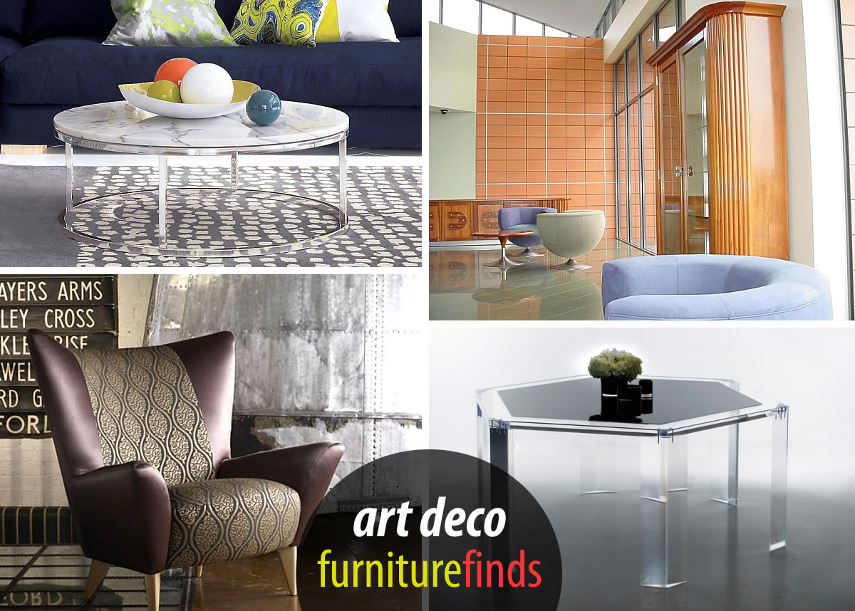 Art Deco Furniture Finds - 20 art deco furniture finds