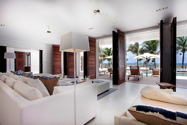 beach villa - caribbean living room