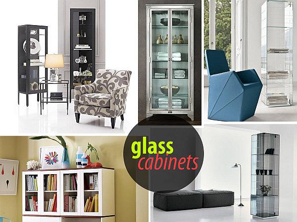 beautiful glass cabinets