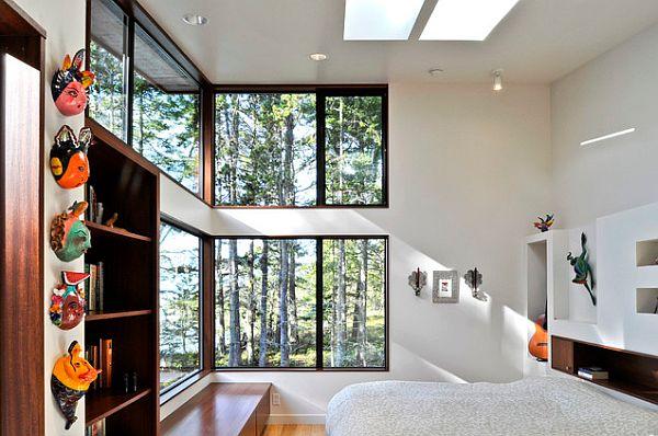 bedroom corner windows