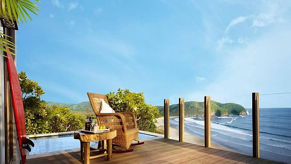 bedroom terrace with sea views