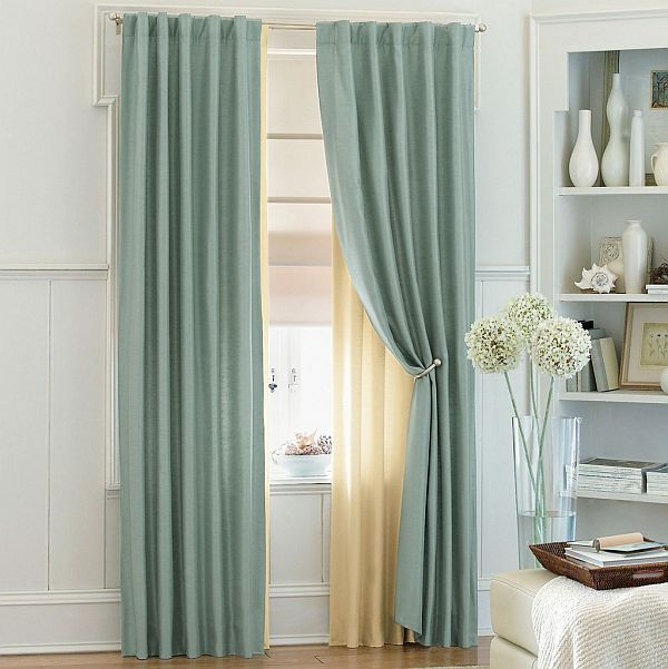 blue sheer curtains Ways to Use Sheer Curtains and Valences