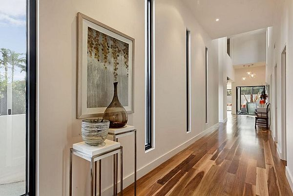 bright hallway design