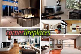 Sleek Corner Fireplaces with Modern Flair