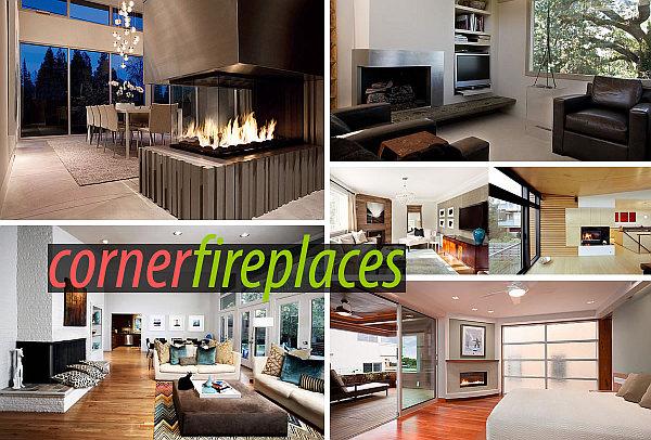 corner fireplaces design ideas