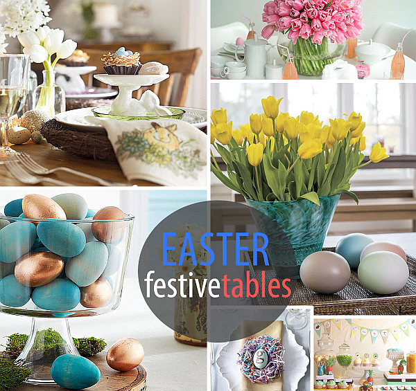 easter festive table decor