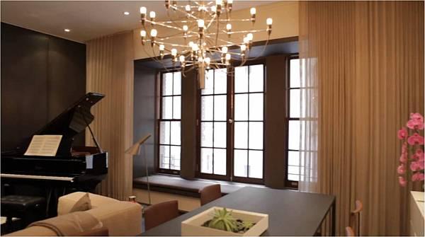 elegant and dark living room decor