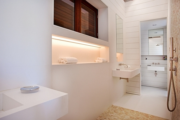 fancy all white bathroom