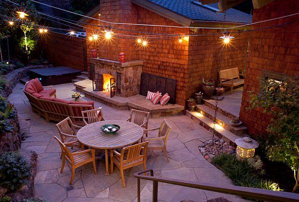 View In Gallery Garden Patio Lighting Design