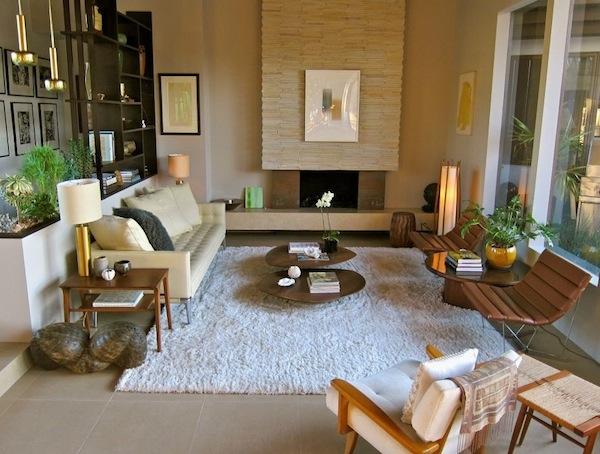 living room sleek modern