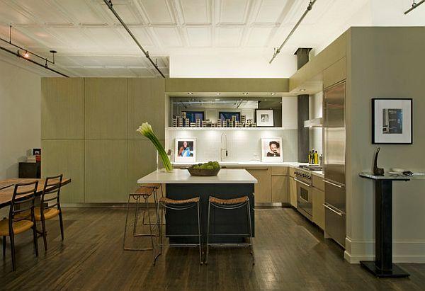 minimalist flower arrangement in the kitchen