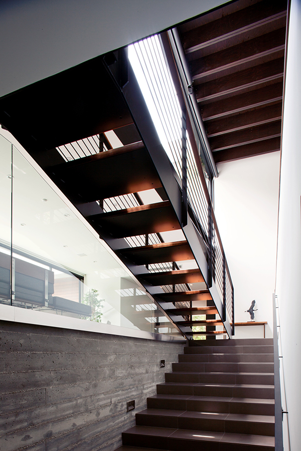 modern staircase design Los Angeles Residence