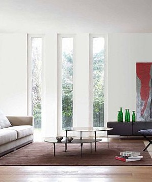 modern windows in the living room