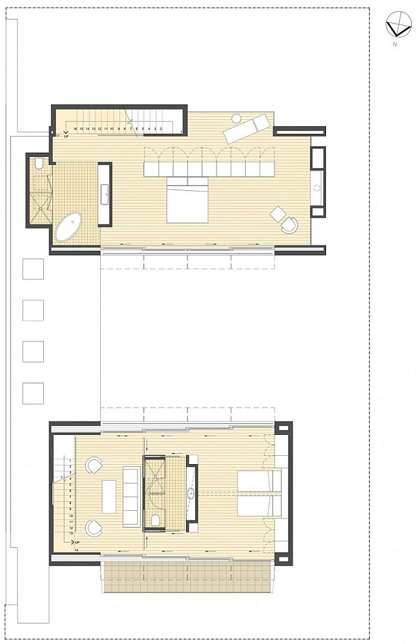 open living space - floor plan