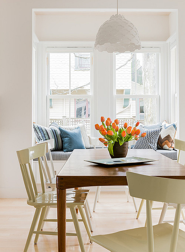orange tulips for the dining area