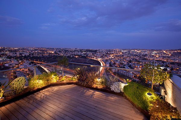 outdoor terrace garden lighting