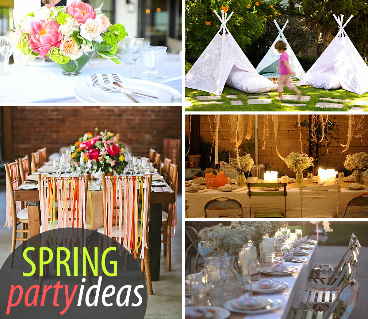 Dinner Theme Party Ideas Part - 31: 20 Colorful Spring Party Ideas