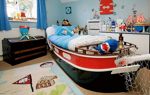 Pirate inspired kids bedroom