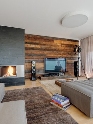 rustic modern apartment