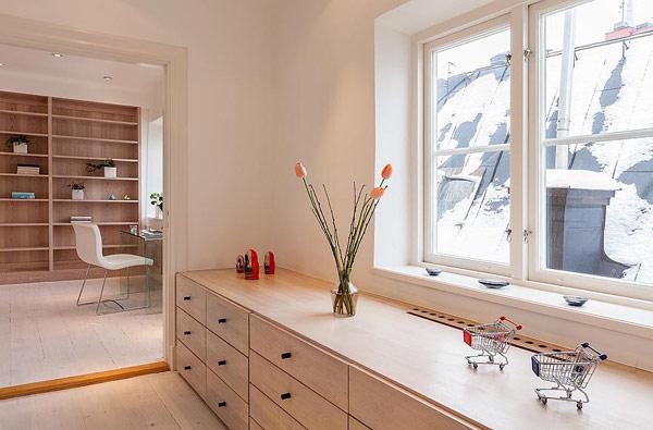 sleek modern Scandinavian apartment