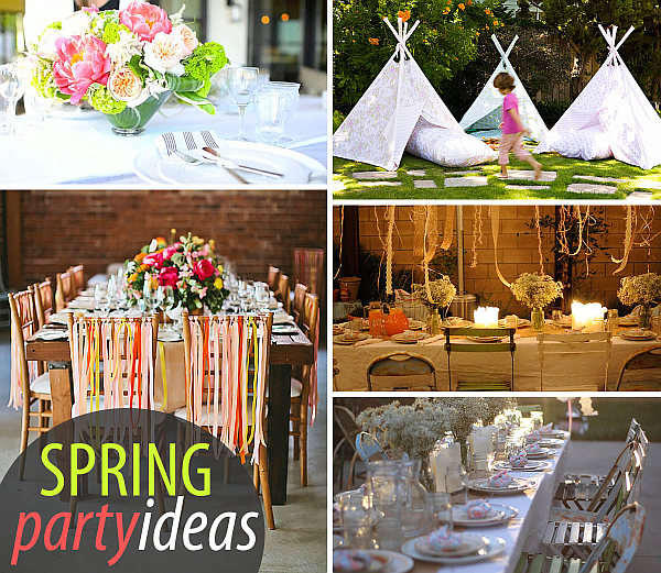 18 Spring Decor Ideas: 20 Colorful Spring Party Ideas