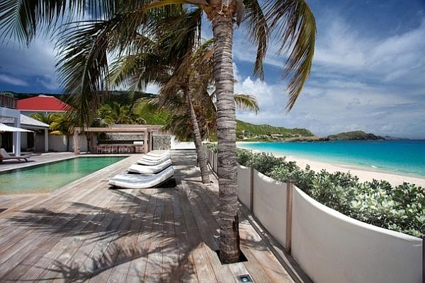 stunning beach villa in the caribbean