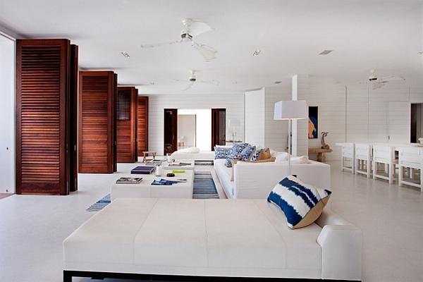 stylish beach inspired living room