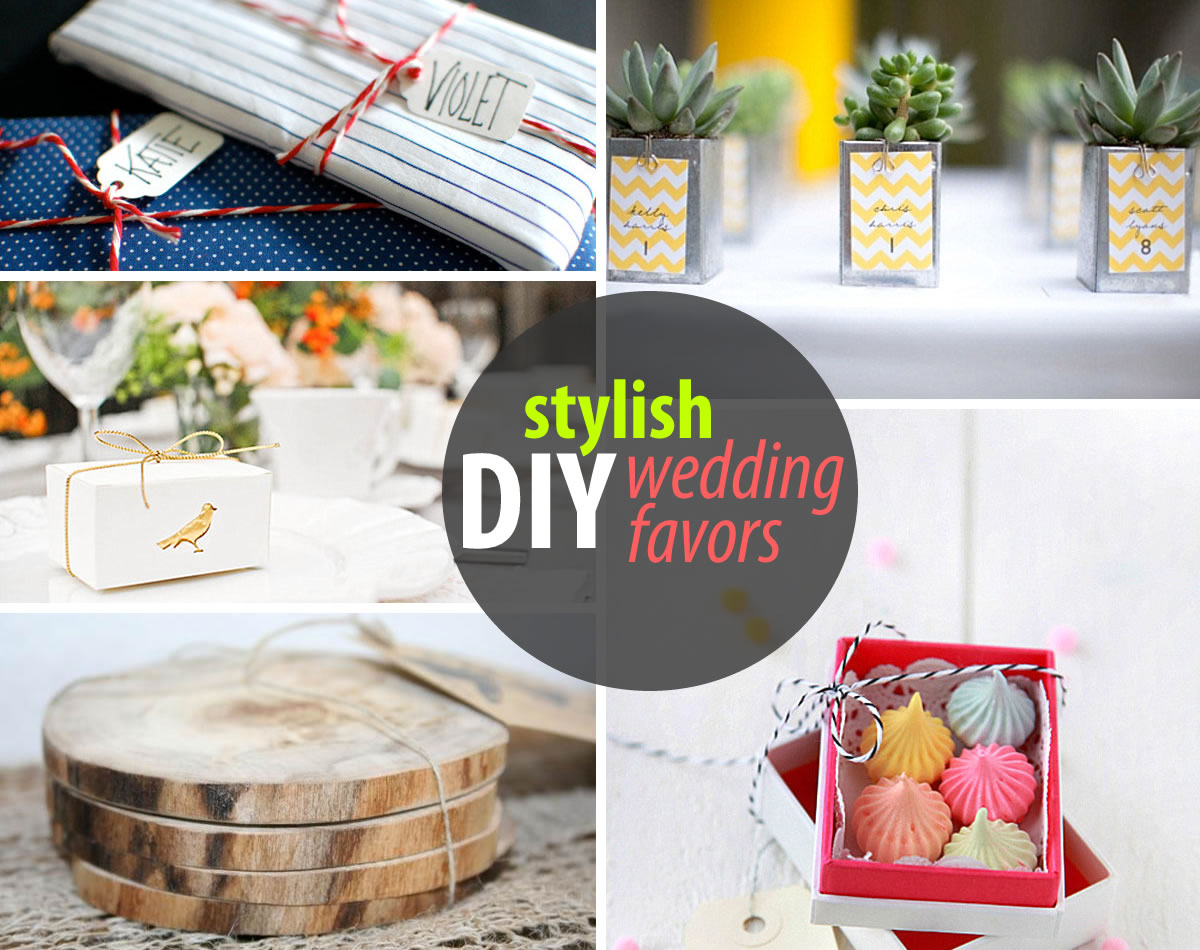 stylish diy wedding favors DIY Wedding Favors for Design Lovers