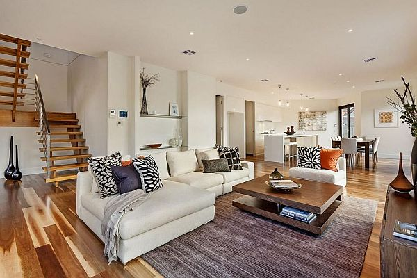 ultra chic living room decor Elegant Melbourne Home Blends Luxurious Interiors With Beautiful Terrace Views