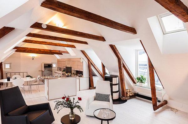 white modern living room in stockholm