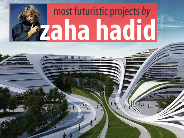 zaha hadid architecture 15 Most Futuristic Architecture Projects of Zaha Hadid