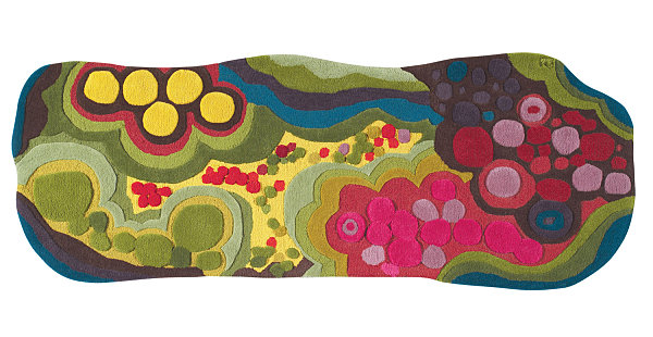 Abstract floral runner from Angela Adams