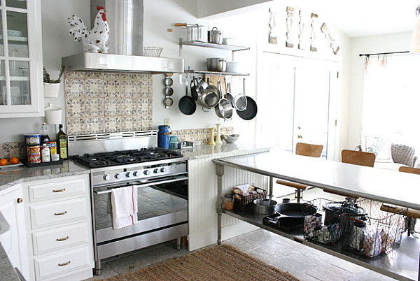 Accessible equipment in an organized kitchen