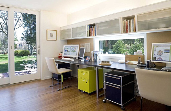 Ample storage in a home office
