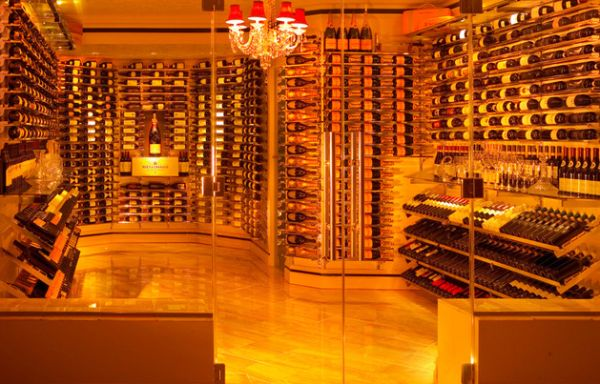 Beautiful reserve wine racking system employed by this cellar
